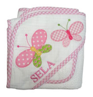 3Marthas personalized butterfl yhooded towel