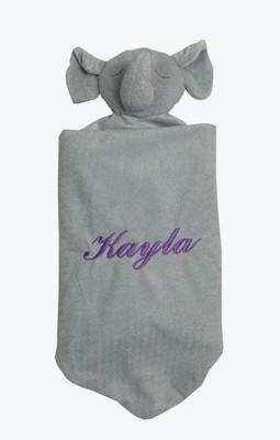 Angel Dear Gray Elephant Napping Blanket