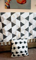 Personalized Custom Baby Quilt - Modern Triangle