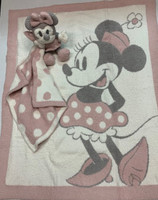Personalized Disney  Baby Gift -  Minnie Mouse Blanket & Blanket Buddy