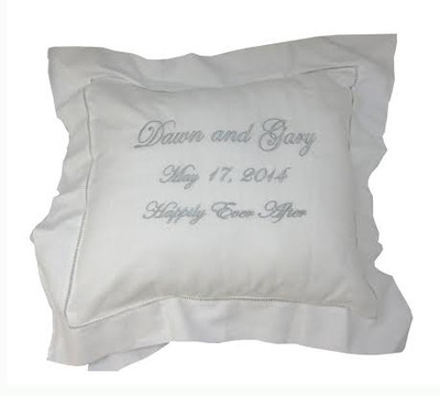 Personalized White Pillow Sham