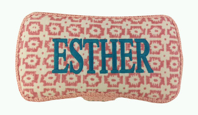 Personalized pink aztec wipe case