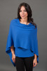 Cashmere dress topper  cruise blue