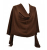 cashmere dress topper chocolate java