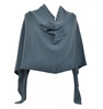 Cashmere dress topper metro gray