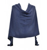 Denim blue cashmere topper