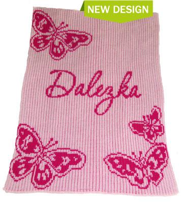 Butterfly stroller blankee by Butterscotch Blankee