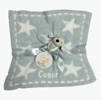 Security blanket bamboo chic puppy with stars