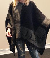 Butterscotch Blankee blanket monogrammed poncho
