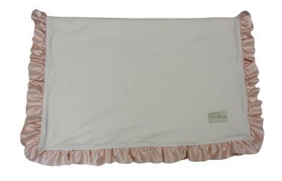Organic pink ruffled blanket