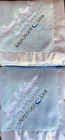Corporate Baby Gift - Blue, Gray or Pink Silky Soft Logo Blanket