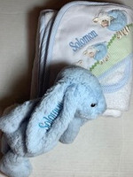 Personalized Baby Boy Gift Set - Bunny & Lambs