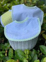 Personalized Boy Gift Basket - Basket of Blue Bibs