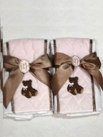Personalized Baby Girl Gift - Two Pink Posh  Burps by Bearington Baby