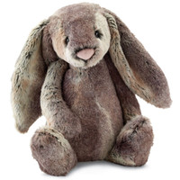 Cute wood land bunny in gray