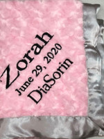 Corporate Gift for Baby Girl - Logo Blanket with Name