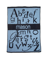 ABC Name Stroller Blanket - Butterscotch Blankees