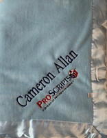 Personalized Corporate Baby Gift - Logo Blue Baby Blanket