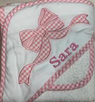 ribbon baby towel