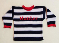 Custom Knit Cotton Stripe Sweater
