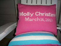 custom birthdate pillow