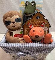 Baby Gift Basket of Organic Stuffed Toys