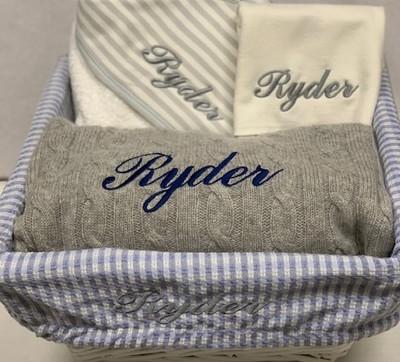 Cashmere baby gift basket