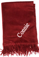 Personalized Alisham Cashmere Throw in Maroon