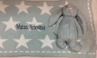 Barefoot Dream Star Blanket with Bashful Bunny