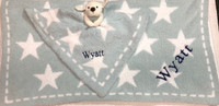 Personalized Barefoot Dream Star Blanket with Puppy Buddy