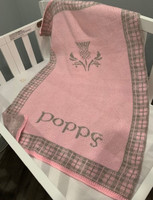 Custom Handcrafted Baby Girl Blanket With Flower or Zodiac Sign