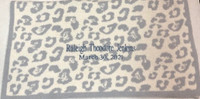Cozy Chic Barefoot in the Wild - Ocean Blue Jacquard Baby Blanket