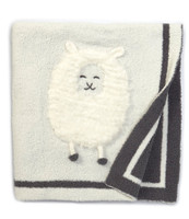 Cozy Chic Barefoot Dream Lamb Baby Blanket with Name
