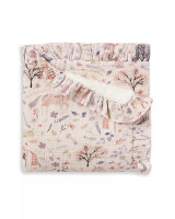 Muslin Floral Blanket Ruffled Baby Blanket with Name