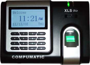 Compumatic XLS bio Biometric Fingerprint Recorder 25 EMPLOYEE TIME CLOCK PACKAGE