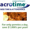 Acroprint AcroTime Standard Web Hosted System