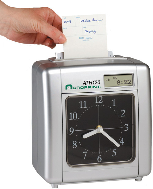 Acroprint ATR120 Time Clock with time card.