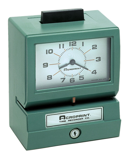 Acroprint Battery Powered 125-12 Time Clock