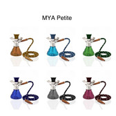 "The ""Petite"" Mya Hookah is durable and it is shorter than most classic hookahs, making it very sturdy. With a Classic base to it in various colors (Amber, Dark Blue, Grey, Light Purple, Olive Green, Sky Blue)."