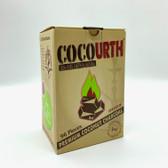 CocoUrth Flat Premium Coconut Charcoal 96 pieces