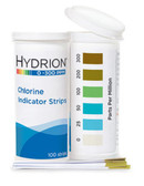 Chlorine Indicator Strips 0-300ppm - 100 strips/vial