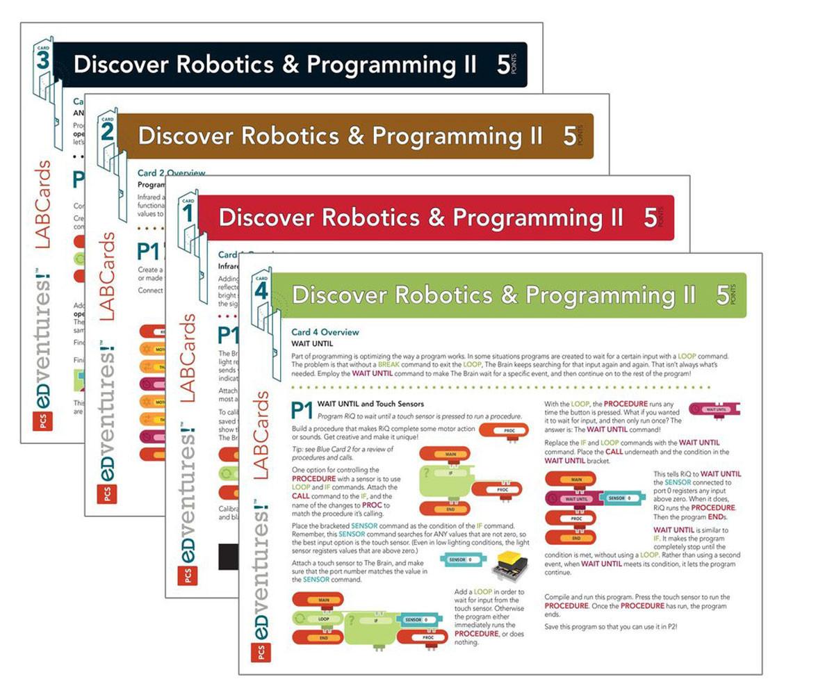 Discover Robotics & Programming II for Grades 6-10: LABCards Pack (first  set)