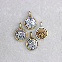 Tiny Silver and Bronze Animal Charm