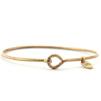 "Brass ""hook and eye"" Bangle"