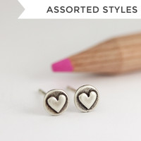 Teeny S + B Studs - Single Metal