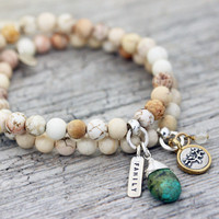Natural Howlite Gemstone Bracelet