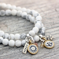 Howlite Gemstone Bracelet