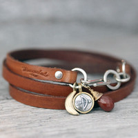 Saddle Leather Wrap Bracelet