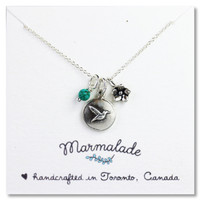 Hummingbird Charm Necklace