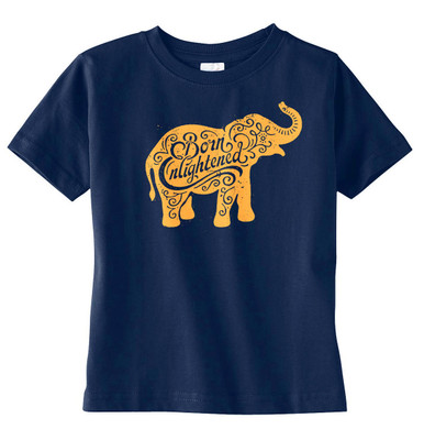 Born Enlightened Elephant T-Shirt in Navy